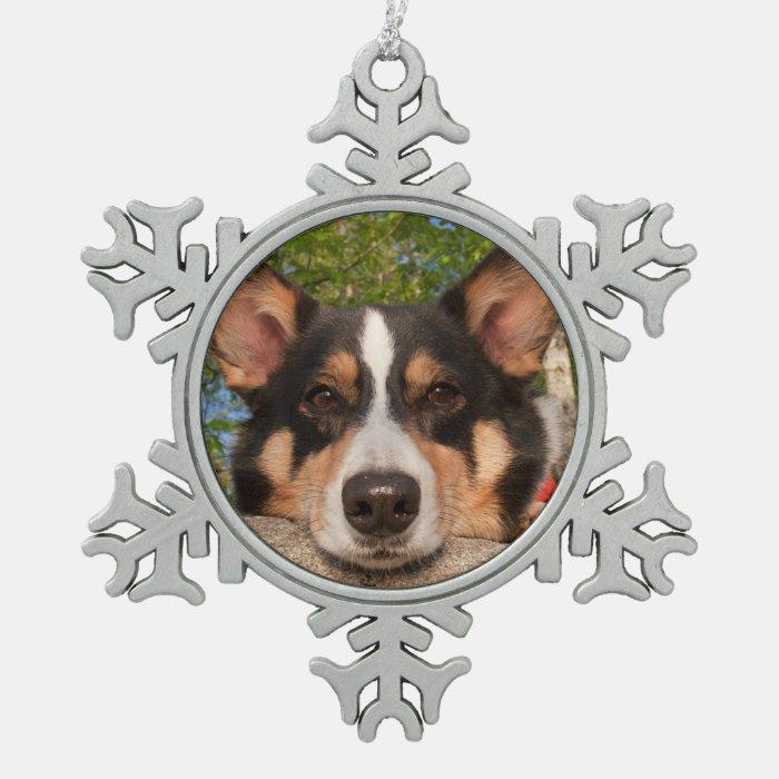 Show Me Sad Snowflake Pewter Christmas Ornament Zazzle