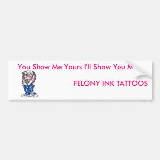 Show me Show you Bumper Sticker