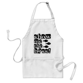 Show me the bass! adult apron
