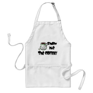 Show me the coffee T-shirts and Gifts. Adult Apron