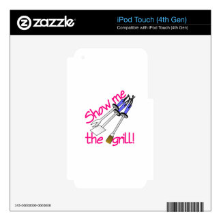 Show Me The Grill iPod Touch 4G Skin