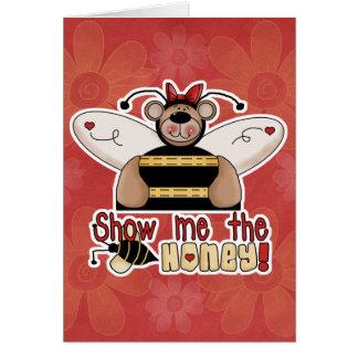 Show Me the Honey Bumble Bear Card