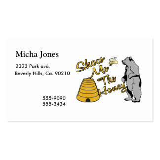 Show Me The Honey Business Card Templates