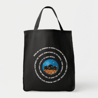 Show Me The Manner Globe Grocery Tote Bag