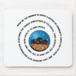 Show Me The Manner Globe Mouse Pad