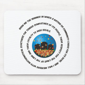 Show Me The Manner Globe Mouse Pads