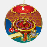 Show Me The Money Gambler Double-Sided Ceramic Round Christmas Ornament