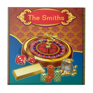 Show Me The Money Gambler Small Square Tile