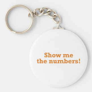 Show me the numbers! keychain