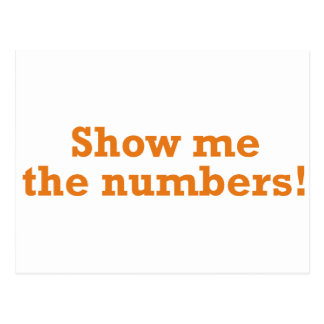 Show me the numbers! postcard