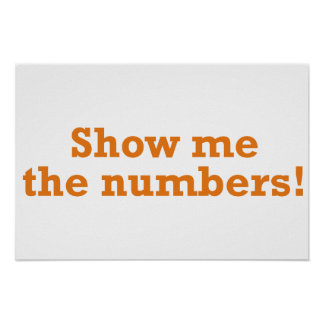 Show me the numbers! poster