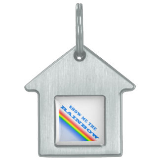 Show Me The Rainbow Pet ID Tag