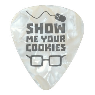 Show me your Cookies Geek Zb975 Pearl Celluloid Guitar Pick