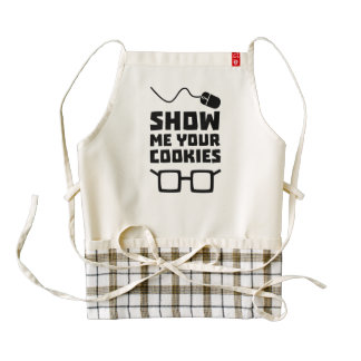 Show me your Cookies Geek Zb975 Zazzle HEART Apron