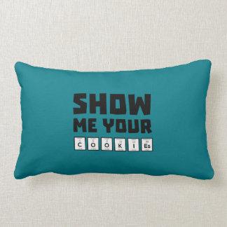 Show me your cookies nerd Zh454 Lumbar Pillow