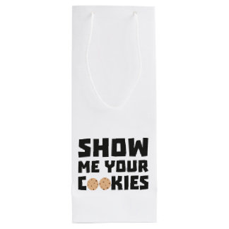 Show me your Cookies Z64x4 Wine Gift Bag