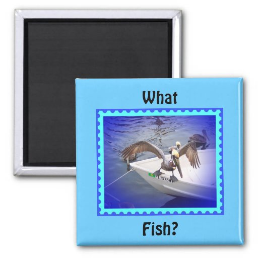 Show Me Your Fishy! 2 Inch Square Magnet