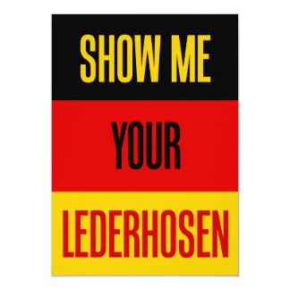 Show Me Your Lederhosen German Flag Funny Invite