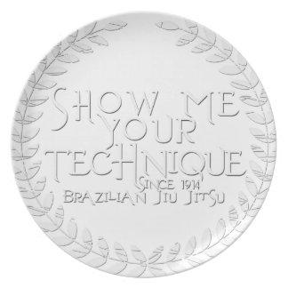 Show Me Your Technique - since 1914 Melamine Plate