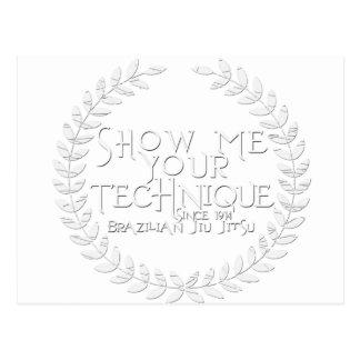 Show Me Your Technique - since 1914 Postcard