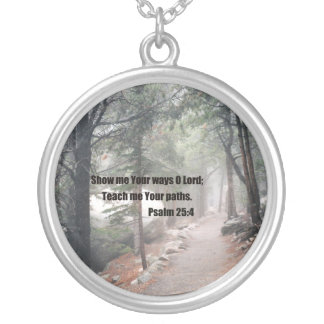 Show me Your ways O Lord; Silver Plated Necklace