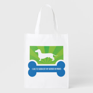 Show off my Weiner Dog Dachshund Reusable Bag