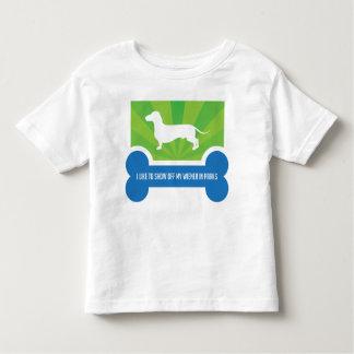 Show off my Weiner Dog Dachshund Toddler Shirt
