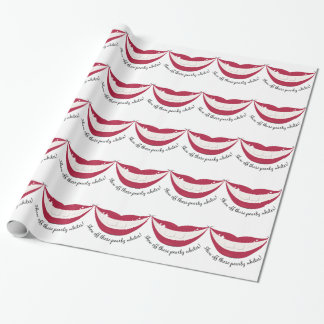 Show Off Those Pearly Whites! Wrapping Paper