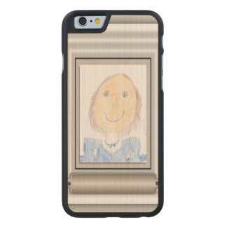 Show Off Your Kid's Art or Photo Carved® Maple iPhone 6 Slim Case