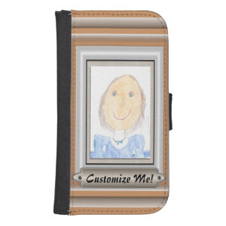 Show Off Your Kid's Art or Photo Wallet Phone Case For Samsung Galaxy S4
