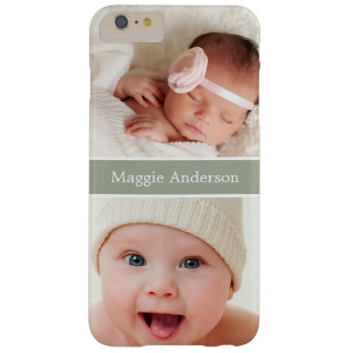 Show off your Newborn Baby Photos Barely There iPhone 6 Plus Case