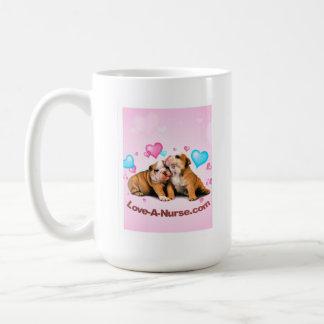 Show Puppy Love for Nurses Classic White Coffee Mug