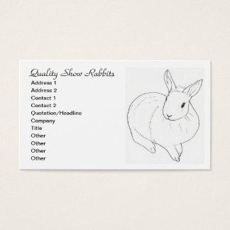 Show Rabbit Business Card