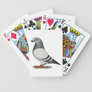 Show Racer Blue Bar Pigeon Bicycle Playing Cards