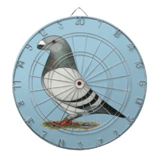 Show Racer Blue Bar Pigeon Dartboard With Darts