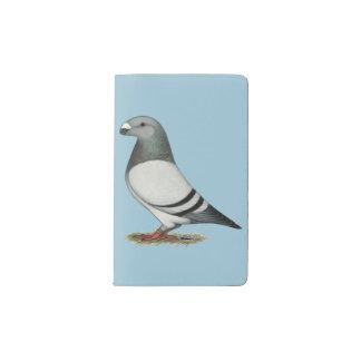 Show Racer Blue Bar Pigeon Pocket Moleskine Notebook