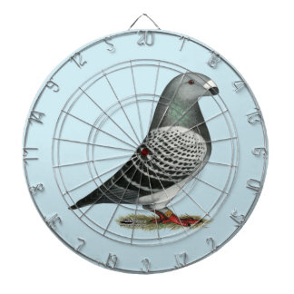 Show Racer Blue Checker Pigeon Dartboard With Darts