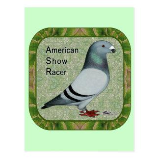 Show Racer Framed Postcard