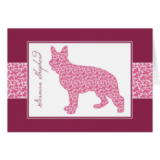 Show Ring Shepherd in Pink Shady Lace Pattern, Card
