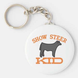 Show Steer Kid Keychain