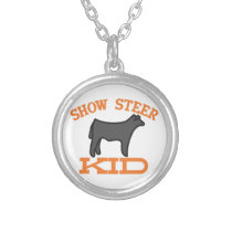 Show Steer Kid Silver Plated Necklace