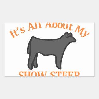 Show Steer Rectangular Sticker