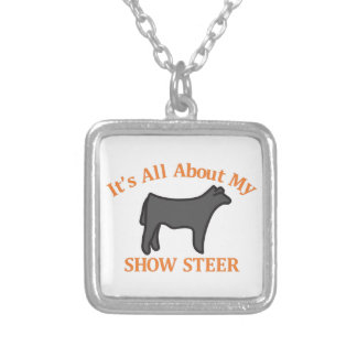 Show Steer Silver Plated Necklace