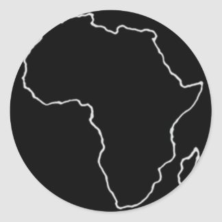 Show Support for Africa Classic Round Sticker