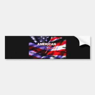 Show televisivo americana de las motocicletas del  pegatina de parachoque
