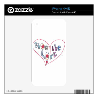 Show the Love iPhone 4S Skin