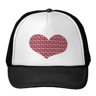 Show the LOVE pattern Trucker Hat
