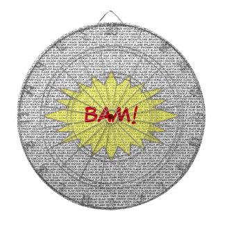 Show them how it's done BAM! Bullseye Dartboard