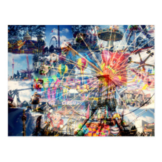 Show_Time,_Decoupage,_ Postcard