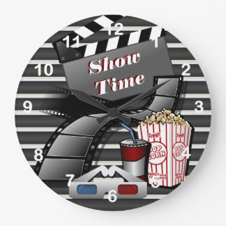 Show Time Movie Theater Large Clock